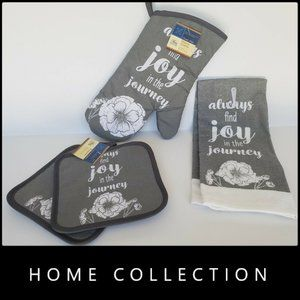 New Home Collection Kitchen Oven Mitt Coffee Set